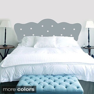 Queen Size Button Headboard Wall Decal