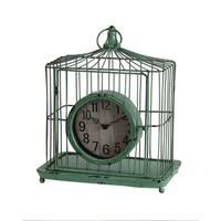 Privilege Green Iron Birdcage Design Table Clock