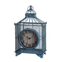 Privilege Blue Iron Birdcage Design Table Clock
