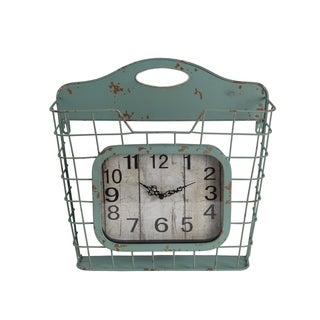 Privilege Iron Wall Clock with Basket