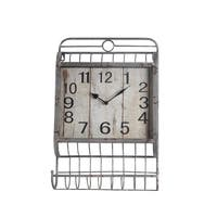 Privilege Iron Wall Clock Basket with Holder