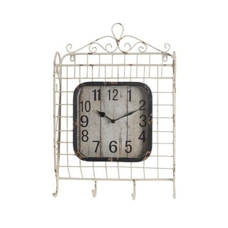 Privilege Iron Baskquet Design 4-hook Wall Clock