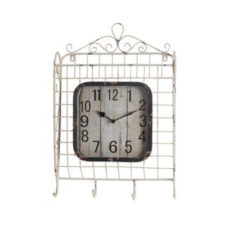 Privilege Iron Baskquet Design 4-hook Wall Clock