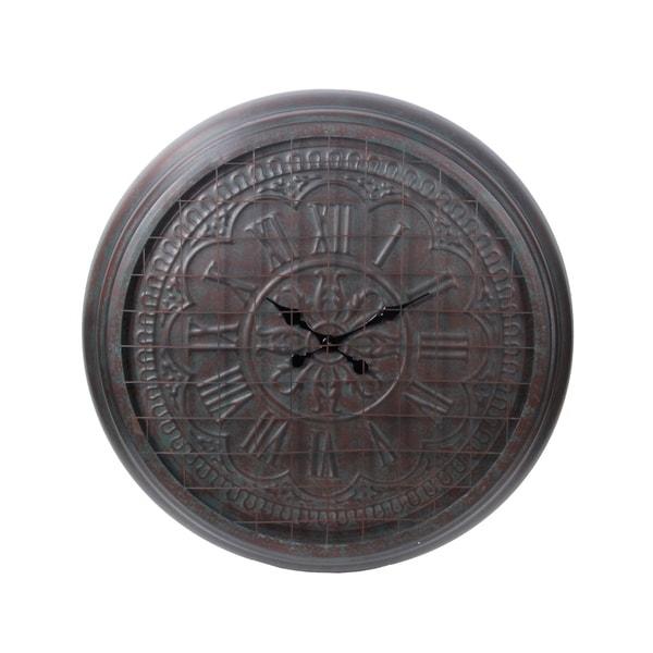 Privilege Large Patina Metal Wall Clock