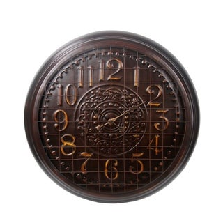 Privilege Large Bronze European Metal Wall Clock