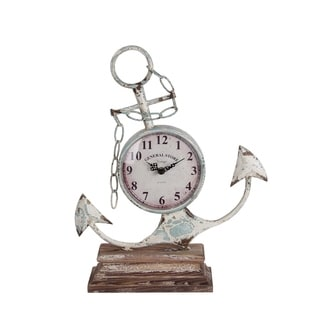 Privilege Tilted Anchor Iron Table Clock