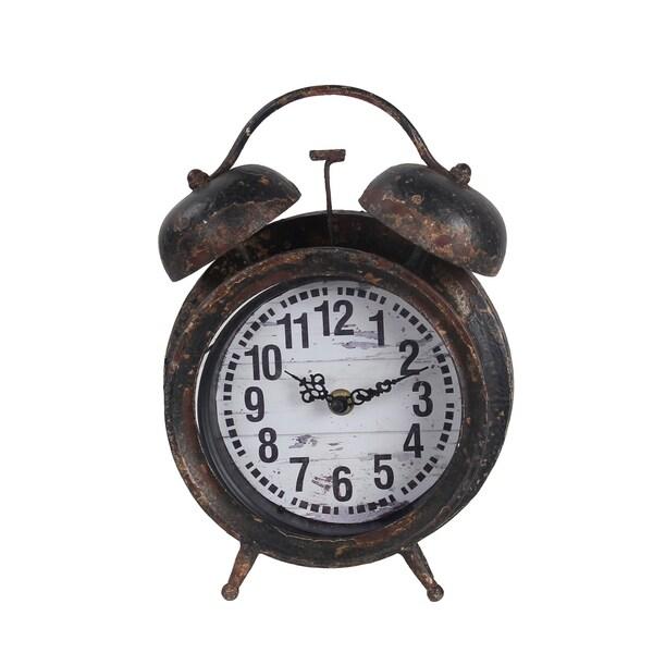 Privilege Antique Black Iron Table Clock