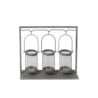 Privilege Grey 3 Candle Iron Holder