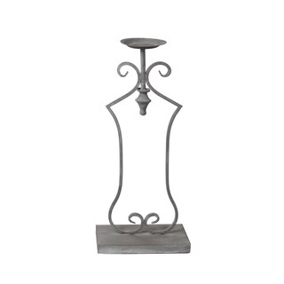 Privilege Grey Large Iron Candle Holder