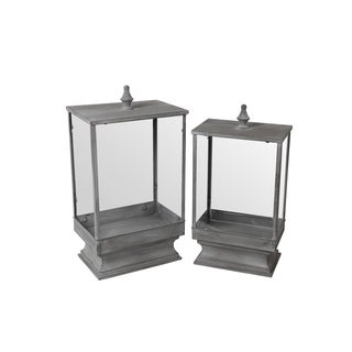 Privilege Grey 2-piece Iron Lanterns