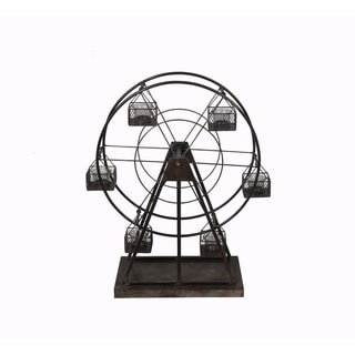 Privilege Black Metal Windmill Candle Holder