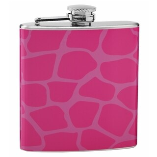 Top Shelf Giraffe Print 6-ounce Hip Flask