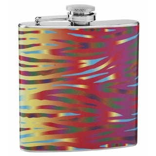 Top Shelf Tiger Print Psychedelic 6-ounce Hip Flask