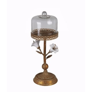 Privilege Rusted Flower Medium Metal Candle Holder