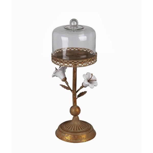 Privilege Rusted Flower Medium Metal Candle Holder