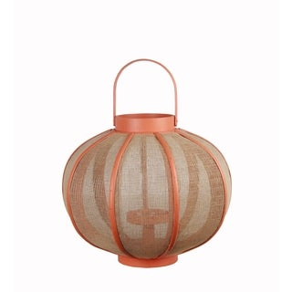 Privilege Orange Wooden Lantern