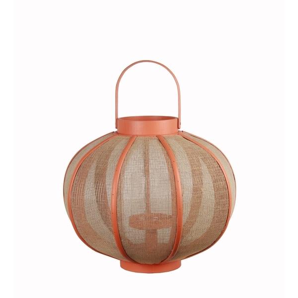 Privilege Orange Wooden Lantern
