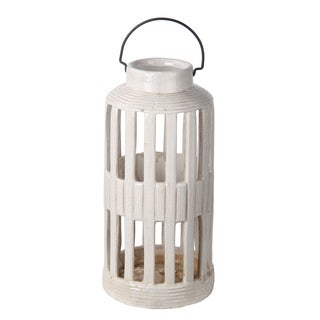 Privilege White Large White Ceramic Lantern