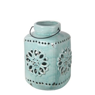 Privilege Blue Small Blue Ceramic Lantern