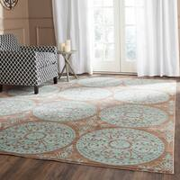 Safavieh Valencia Brown/ Alpine Distressed Silky Polyester Rug - 9' x 12'