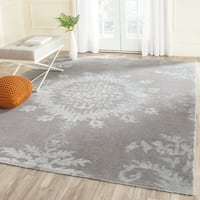 Safavieh Hand-knotted Stone Wash Grey Wool Rug - 9' x 12'
