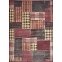 Safavieh Vintage Red/ Multi Patchwork Silky Viscose Rug (6'7 x 9'2)
