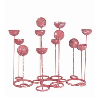 Privilege Red Candle Holders on Stand