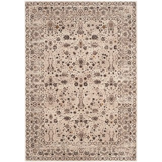 Safavieh Serenity Cream/ Brown Rug (6' x 9')