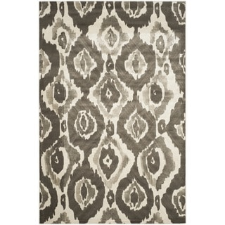 Safavieh Porcello Abstract Ogee Ivory/ Dark Grey Rug (6' x 9')