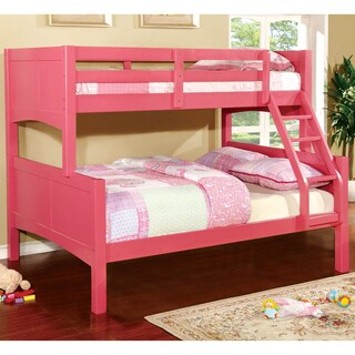 Furniture of America Colorpop Twin-over-Full Modern Bunk Bed