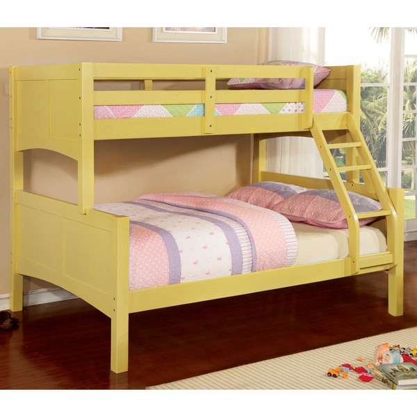Shop Furniture Of America Colorpop Twin Over Full Wood Bunk Bed On