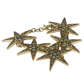 Rhinestone Goldtone Star Bracelet