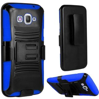 Insten Hard PC/ Silicone Dual Layer Hybrid Phone Case Cover with Holster For Samsung Galaxy Grand Prime