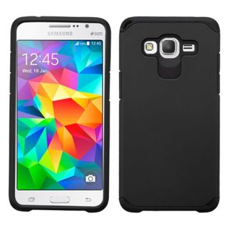 Insten Hard PC/ Silicone Dual Layer Hybrid Rubberized Matte Phone Case Cover For Samsung Galaxy Grand Prime