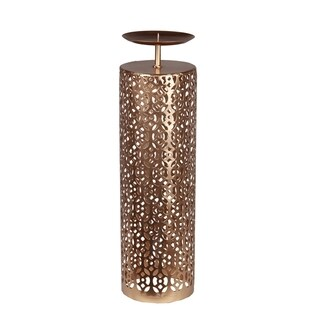 Privilege Gold Large Iron Decorative Candle Holder