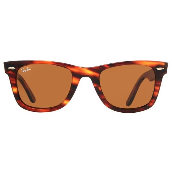 cc5dac6b446 Ray-Ban Wayfarer RB2140 954 50-22 Unisex Tortoise Frame Brown Lens  Sunglasses -
