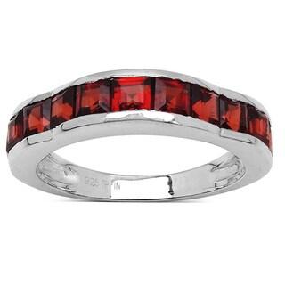Olivia Leone Sterling Silver 2 1/4ct Garnet Ring