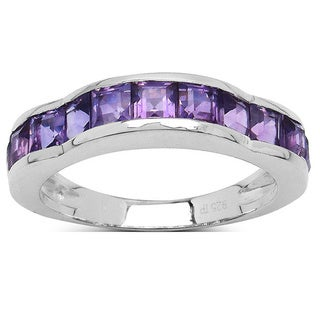 Olivia Leone Sterling Silver 1 3/4ct Amethyst Ring