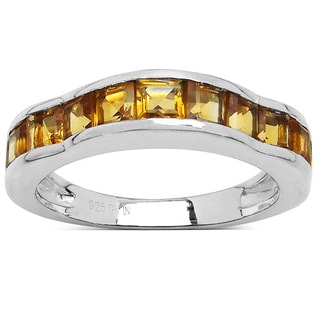 Olivia Leone Sterling Silver 1 3/4ct Citrine Ring