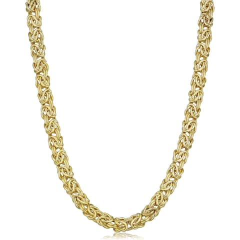 14k Yellow Gold 6-mm Byzantine Necklace (18 inches)