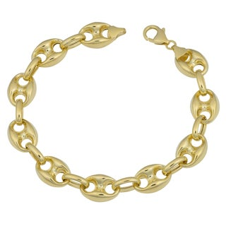Fremada 14k Yellow Gold Bold Puffed Mariner Bracelet (8.5 inches)