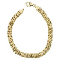 Fremada 14k Yellow Gold 6-mm Byzantine Bracelet (7.25 inches)