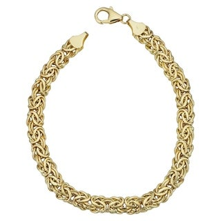14k Yellow Gold 6 millimeter Byzantine Bracelet (7.25 inches)