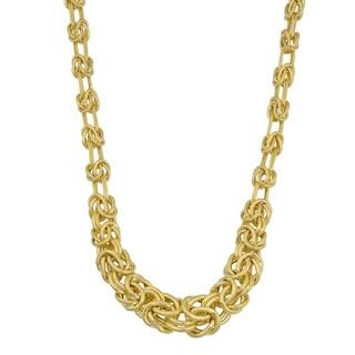 Fremada 14k Yellow Gold High Polish Graduated Byzantine Necklace (18 inches)