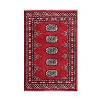 Herat Oriental Pakistani Hand-knotted Bokhara Wool Rug - 2' x 2'11