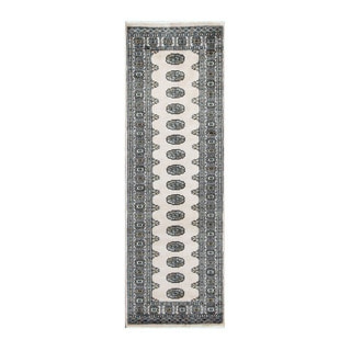 Herat Oriental Pakistani Hand-knotted Bokhara Beige/ Ivory Wool Rug (2'8 x 8')