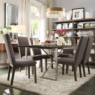 INSPIRE Q Ridgefield Industrial Weathered Top Rectangle Dining Set
