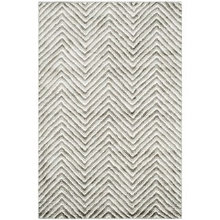 Safavieh Hand-Tufted Soho Ivory/ Grey N.Z. Wool Rug (4' x 6')