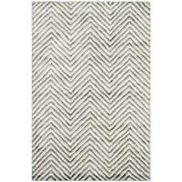 Safavieh Hand-Tufted Soho Ivory/ Grey N.Z. Wool Rug - 4' x 6'