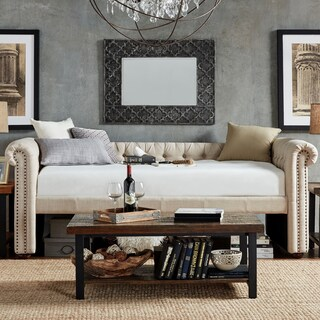 Knightsbridge Tufted Scroll Arm Chesterfield Daybed and Trundle by iNSPIRE Q Artisan (2 options available)